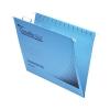 Rexel Crystalfile Flexifile Suspension File Manilla V-base Foolscap Blue Ref 3000041 [Pack 50]