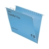 Rexel Crystalfile Flexifile Suspension File Manilla V-base A4 Blue Ref 3000047 [Pack 50]