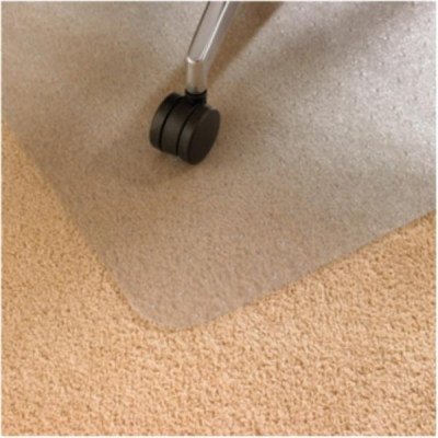 Floortex Chair Mat Polycarbonate Rectangular for Carpet Protection 1190x750mm Clear