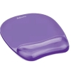 Fellowes Crystal Mouse Mat Pad with Wrist Rest Gel Purple Ref 91441