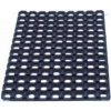 Floortex Door Mat Indoor and Outdoor Rubber 600mmx800mm Black