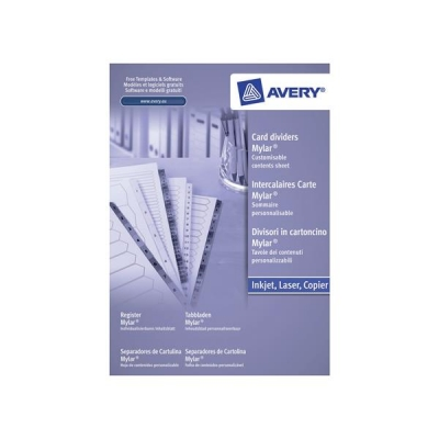 Avery Index Multipunched 1-10 A4 White Ref 05461061