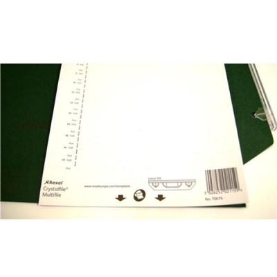 Rexel Crystalfile Extra Tab Inserts Card White Ref 70676 [Pack 25]