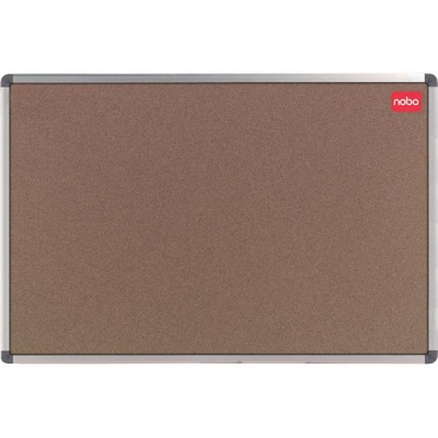 Nobo Classic Office Noticeboard Cork with Fixings and Aluminium Trim W1800xH1200mm Ref 30530326
