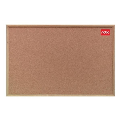 Nobo Classic Office Noticeboard Cork with Natural Oak Finish W1200xH900mm Ref 37639004