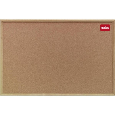 Nobo Elipse Classic Office Noticeboard Cork with Natural Oak Finish W1800xH1200mm Ref 37639005