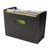 Concord Desk Organiser Expanding Polypropylene 13-Part Landscape Black Ref 7113-PFL