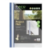 SSeco Project File Polypropylene Oxo-biodegradable Flat Bar Opaque Front A4 Blue Ref KS320-BU [Pack 10]