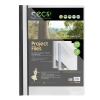SSeco Project File Polypropylene Oxo-biodegradable Flat Bar Opaque Front A4 Black Ref KS320-BK [Pack 10]