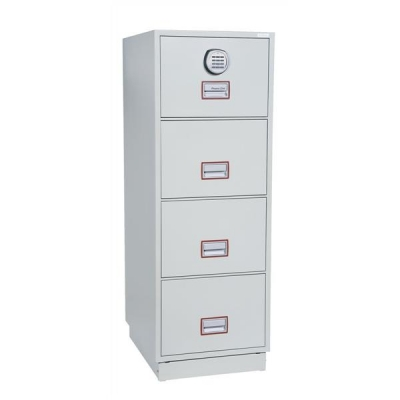 Phoenix Firefile Filing Cabinet Fire Resistant 4 Lockable Drawers 266Kg W530xD675xH1495mm Ref 2244