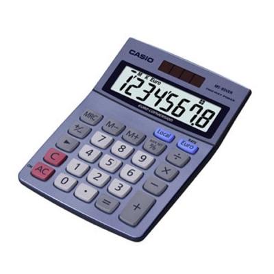 Casio Calculator Euro Desktop Battery Solar-power 8 Digit 3 Key Memory 103x137x31mm Ref MS-80VER II
