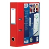 Elba Lever Arch File with Clear PVC Cover 70mm Spine A4 Red Ref 100080895 [Pack 10]