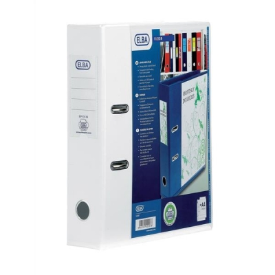 Elba Lever Arch File with Clear PVC Cover 70mm Spine A4 White Ref 100080894 [Pack 10]
