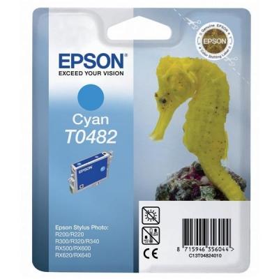 Epson T0482 Inkjet Cartridge Seahorse Page Life 400pp Cyan Ref C13T04824010