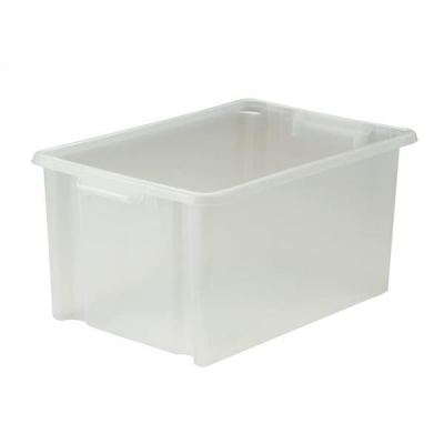Strata Storemaster Crate Jumbo External W560xD385xH280mm 48.5 Litres Translucent Ref HW48