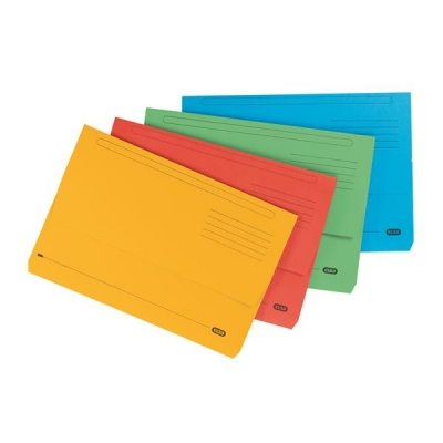 Elba Bright Manilla Document Wallet 285gsm Capacity 32mm Foolscap Assorted Ref 100090138 [Pack 25]