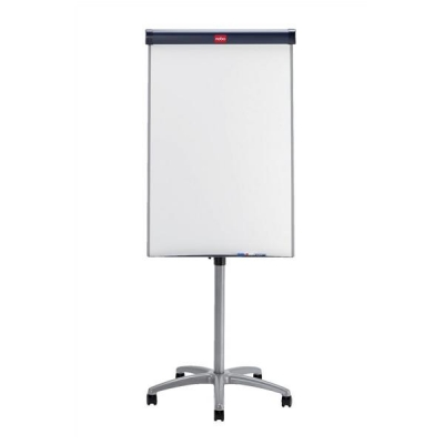 Nobo Barracuda Easel Whiteboard Mobile Magnetic Height-adjustable 5 Castors W700xH1000mm Ref 1902386