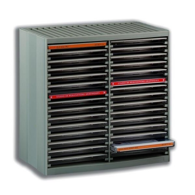 CD Storage Spring Case for 30 Disks Grey