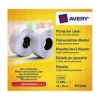 Avery Labels for Labelling Gun 2-Line Permanent White 16x26mm 1200 per Roll PLP1626 [Pack 10]