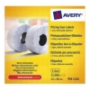 Avery Labels for Labelling Gun 1-Line Removable White 12x26mm 1500 per Roll Ref PLR1226 [Pack 10]