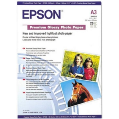 Epson Premium Photo Paper Glossy 255gsm A3 Ref S041315 [20 Sheets]