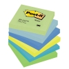 Post-it Colour Notes Pad of 100 Sheets 76x76mm Dreamy Palette Rainbow Colours Ref 654MT [Pack 6]