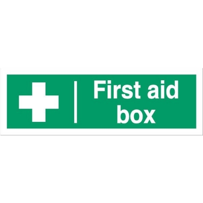Stewart Superior First-Aid Box Self Adhesive Sign Ref SP058SAV