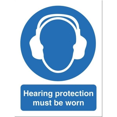 Stewart Superior Hearing Protection Must Be Worn Self Adhesive Sign Ref M002SAV