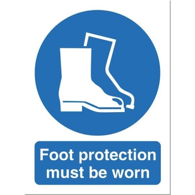 Stewart Superior Foot Protection Must Be Worn Self Adhesive Sign Ref M003SAV