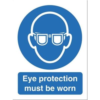 Stewart Superior Eye Protection Must Be Worn Self Adhesive Sign Ref M004SAV
