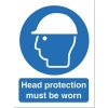 Stewart Superior Head Protection Must Be Worn Self Adhesive Sign Ref M005SAV