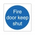 Stewart Superior Fire Door Keep Shut Self Adhesive Sign Ref M014PVC [Pack 5]