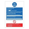 Stewart Superior Fire Action Self Adhesive Sign Ref M011PVC