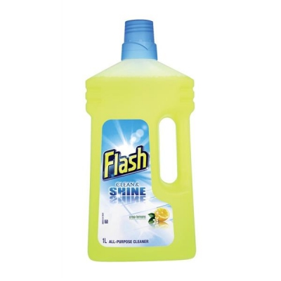 Flash All Purpose Cleaner for Washable Surfaces 1 Litre Lemon Fragrance Ref N05865