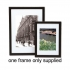 Picture or Certificate Frame Portrait or Landscape with Styrene Front A3 Black