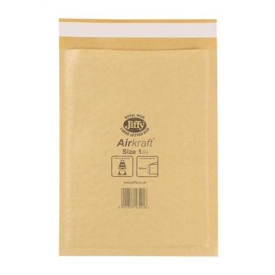 Jiffy Airkraft Bubble Bag Envelopes No.1 Gold 170x245mm Ref JL-GO-1 [Pack 100]