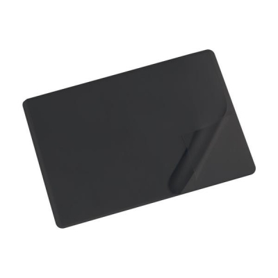 Durable Desk Mat with Transparent Overlay W530xD400mm Black Ref 7202/01