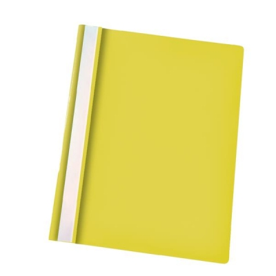 Esselte Report Flat File Lightweight Plastic Clear Front A4 Yellow Ref 56281 [Pack 25]