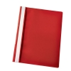 Esselte Report Flat File Lightweight Plastic Clear Front A4 Red Ref 56283 [Pack 25]