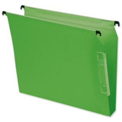 Bantex Flex Lateral File Kraft 220gsm Square-base W330mm Green Ref 100330953 [Pack 25]