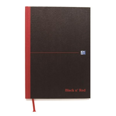Black n Red Book Casebound 90gsm Ruled 384pp A4 Ref 100080473