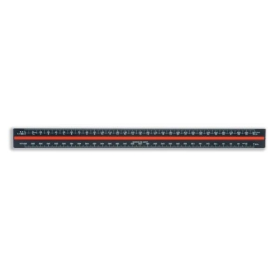 Linex Scale Ruler Triangular Aluminium Colour-coded Scales 1-1 to 1-2500 Ref LXH382