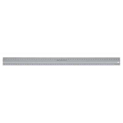 Linex Hobby Cutting Ruler Anti-slip Light Aluminium 1 Bevelled Side 1 Plain Side 50cm Ref LXE2950M
