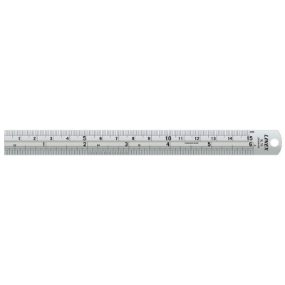 Linex Ruler Stainless Steel Imperial and Metric with Conversion Table 150mm Ref Lxesl15