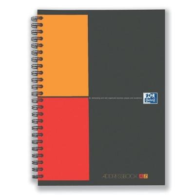Oxford International Address Book A-Z Polypropylene Wirebound 160pp 90gsm A5 Ref 100103165
