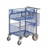 Versapak Minor Plus Mail Trolley 2 Front Baskets Rear Pannier W584xD788xH914mm Blue and Grey Ref MT3-SIL