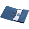 5 Star Transfer Spring Files with Inside Pocket 315gsm 38mm Foolscap Blue [Pack 25]