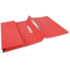 5 Star Transfer Spring Files with Inside Pocket 315gsm 38mm Foolscap Red [Pack 25]