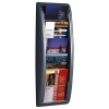 Literature Holder Wall Mount 5 x A5 Pockets Aluminium Silver