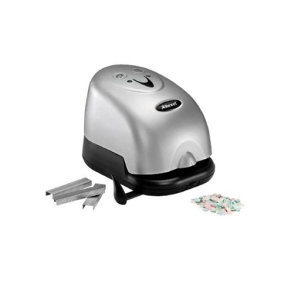 Rexel Polaris 1420 Electric Stapler and Punch 2-Hole Combo Capacity 14x 80gsm Silver-Black Ref 2101179